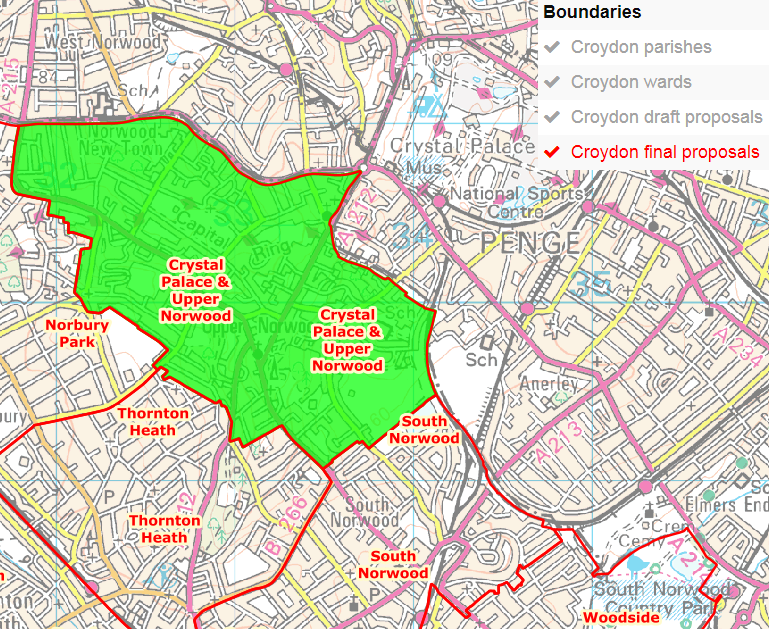 Croydon North – Ward Boundary Changes