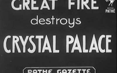 GREAT FIRE destroys CRYSTAL PALACE